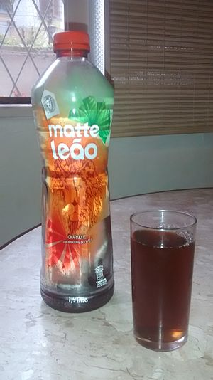 Matte Leão - A bottle of Matte Leão.  This is mate sold as an iced tea.