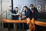 A ceremonial ribbon is cut for the opening of new Destination Mars experience (29502235810).jpg
