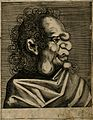 A character with a grotesque face. Line engraving. Wellcome V0007460ER.jpg