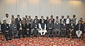 A delegation led by the ISRO Chairman, Dr. K. Radhakrishnan with the Prime Minister, Dr. Manmohan Singh, after the successful launch of Mars Orbiter Mission and GSLV D5, in New Delhi on January 21, 2014.jpg