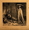 A lone, wounded, French soldier greets a skeletal death Wellcome V0015781.jpg