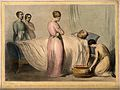 A man being bled whilst lying in bed and surrounded by four Wellcome V0011371.jpg