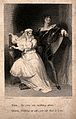 A man pointing to a ghost and asking a Queen if she can see Wellcome V0036035ER.jpg