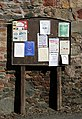 A notice board in Newstead - geograph.org.uk - 1755012.jpg