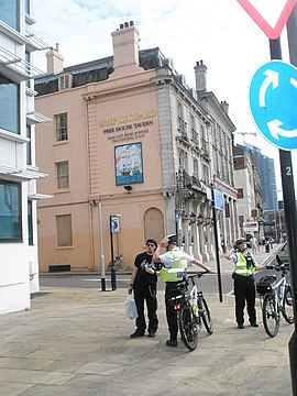 A strong police presence near The Ship Leopard - geograph.org.uk - 898967.jpg