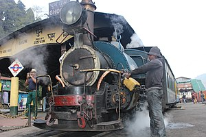 Mountain railways of India - The steam locomotive of DHR