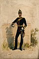A uniformed soldier from the army medical staff. Watercolour Wellcome V0015752EL.jpg