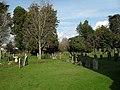 A verdant churchyard at St Andrew, Tangmere - geograph.org.uk - 1718694.jpg
