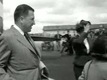 Henry Ford II arrives in the Netherlands (1954).