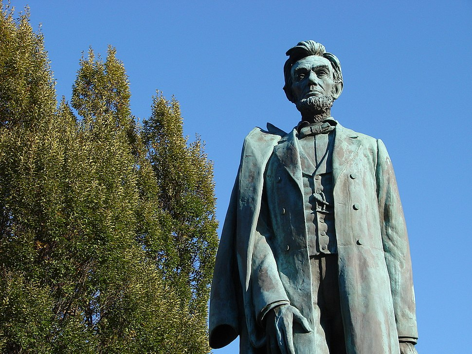 Abraham Lincoln - Statue in Downtown Spokane WA - USA
