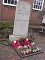 Acocks Green Library, Shirley Road, Acocks Green - Memorial stone to World War One and Two (4328708340).jpg