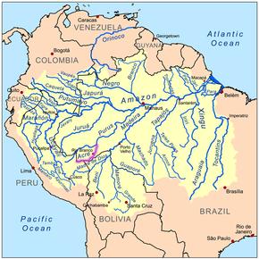 kart over amazonas Acre (elv) – Wikipedia kart over amazonas