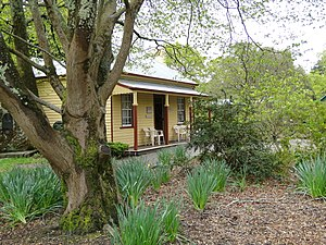 Adam Lindsay Gordon - Adam Lindsay Gordon's Ballarat cottage, relocated from Craig's Hotel to the Ballarat Botanical Gardens