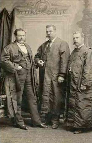 Frederick Bullock - Mayors of Adelaide:  Judah Moss Solomon (1869-71);  James Shaw (1888-9);  Frederick William Bullock (1891-2)  ca. 1890