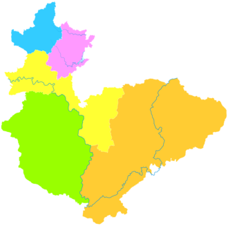 Hebi - Image: Administrative Division Hebi