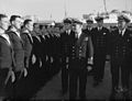 Admiral Cunnningham Inspects Men Who Took Part in North Africa Operations. 24 December 1942, Algiers, Admiral Sir Andrew Cunningham, Naval Commander-in-chief, Expeditionary Force, Inspected Naval and Airforce P A13653.jpg