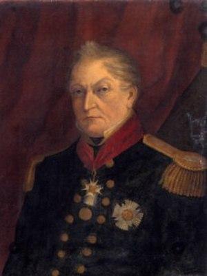 Samuel Pym - A portrait of Admiral Sir Samuel Pym