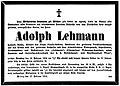 Adolph Lehmann (1828–1904) Todesanzeige NFP 1904-02-18 19.jpg