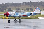 Aerostar Yak-52W (VH-YVK) taxiing at Wagga Wagga Airport (2).jpg