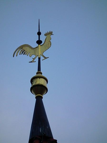 File:Affolterbach Hahn Kirchturm Gustav-Adolf-Kirche.JPG