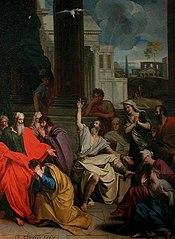 Le Prophète Agabus prédisant à saint Paul ses souffrances à Jérusalem