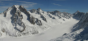 Argentière Hut - Aiguille d'Argentière and the Argentière glacier