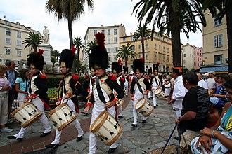 Corsica - Corsicans commemorating the anniversary of the birth of Napoleon