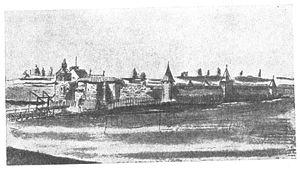 Alūksne Castle - Image: Alūksne Castle 1661