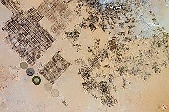 Al Jawf, Libya - Irrigation at Al Jawf oasis