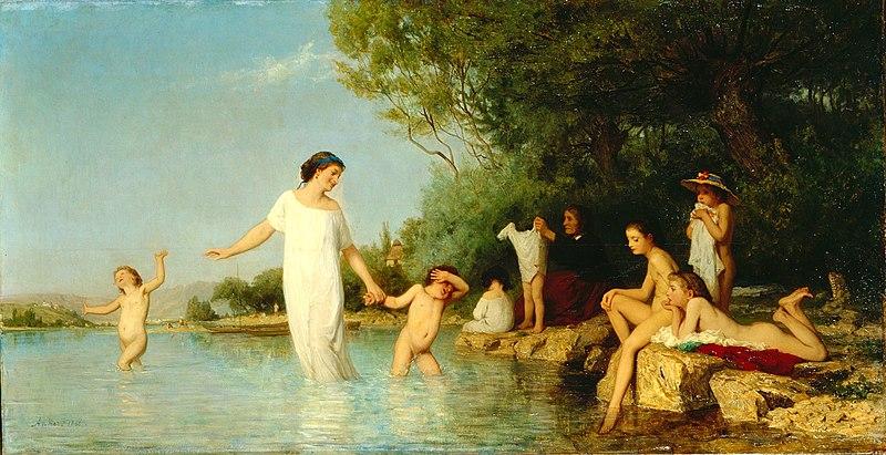 File:Albert Anker - Die Badenden (1865).jpg