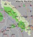 Alberta Rockies travel region map.png