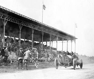 Harry Grant - Grant winning the 1910 Vanderbilt Cup