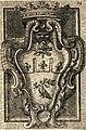 Alessandro Algardi's coat of arms of Innocent X in San Nicola da Tolentino by Filippo Juvarra (1711).jpg