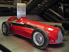 Juan Manuel Fangio drove this Alfa Romeo 159 to the title in 1951.