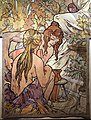 Alfons mucha, l'epoca romana e l'arrivo degli slavi, dipinto per padiglione bosnia-h. all'esp. univ. di parigi del 1900, 09.jpg