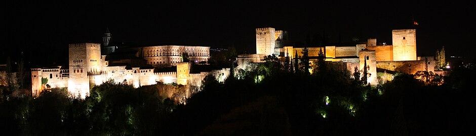 Alhambra extrior view at night.jpg