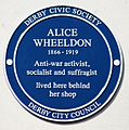 Alice Wheeldon blue plaque.jpg