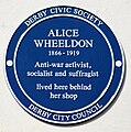 Alice Wheeldon blue plaque.jpg