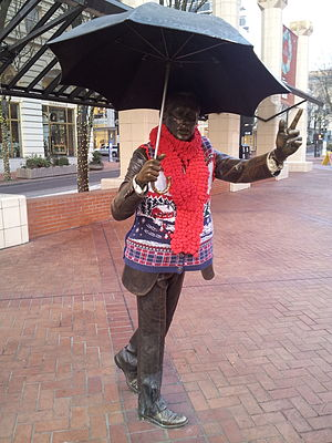 Allow Me (Portland, Oregon) - Allow Me dressed in winter clothing in December 2013