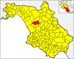 Altavilla Silentina within the Province of Salerno