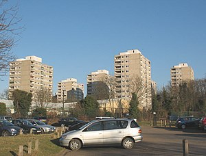 Roehampton - Some of the many high-rise blocks which are part of the large Alton Estate