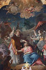 Saint Cyriaque exorcisant Arthémie, la fille de l'empereur Dioclétien