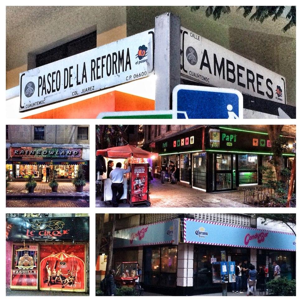 Amberes street, Zona Rosa, Mexico City