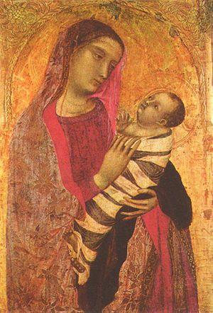 Ambrogio Lorenzetti's Madonna and Child (1319)...