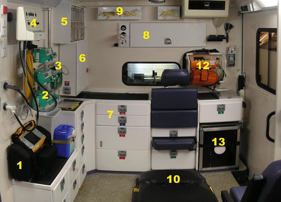 Ambulance Interior Details
