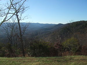 Amicalola Falls State Park - View from the Amicalola Falls State Park Lodge