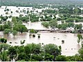 An aerial view taken from the IAF relief Helicopter of the flood-affected areas in Gujarat on July 3, 2005 (1).jpg