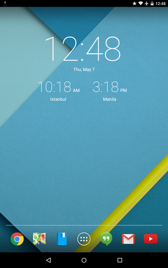 Roboto - Android 5.1.1 on a Google Nexus 7 (2012), featuring the redesigned Roboto font.