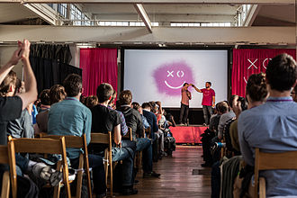 XOXO (festival) - Andy Baio and Andy McMillan on stage at the end of XOXO 2013