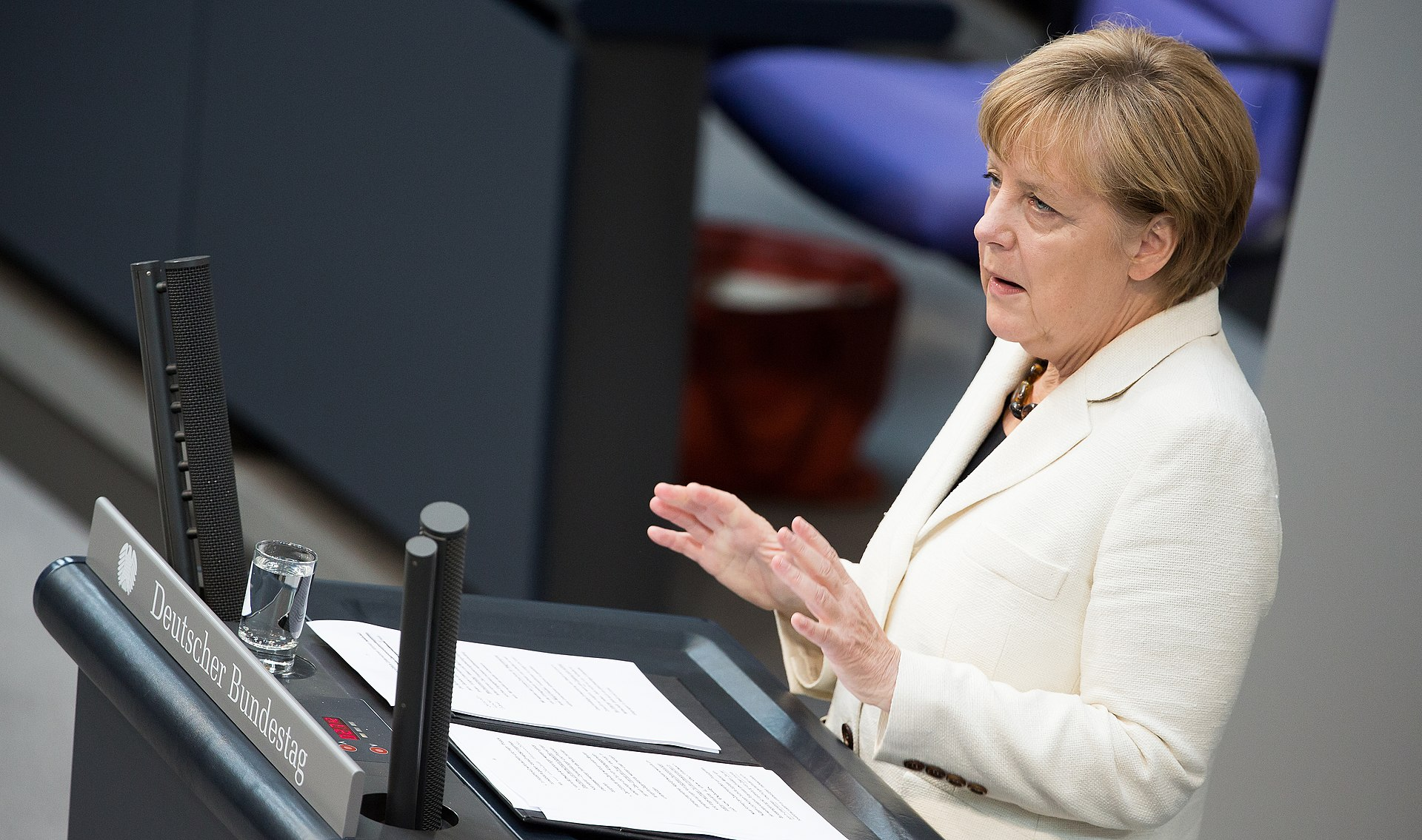 Merkel addresses the Bundestag